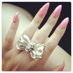 I Love Rings! <3 So Much, I Wouldn't Particularly Choose This One (A Bit Big) But Its Still Really Cute! (:  Ps: (The Nails Are Cute, To Long! But Cute)