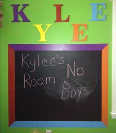 Chalkboard wall for kids room!