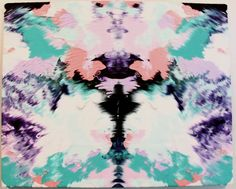 Rorschach inkblot. Would love to have this design blown up & hung in the house somewhere