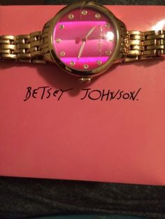 Betsey Johnson Watch - http://designerjewelrygalleria.com/betsey-johnson/betsey-johnson-watch/