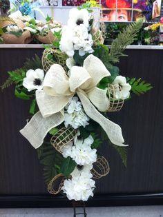 Burlap memorial cross #3 store 4930