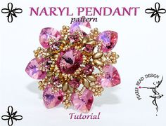 NARYL pendant pattern tutorial with SuperDuo by PearlyBeadDesign