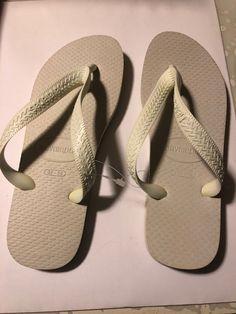 b38abcdb9da6 Havaianas Slim Brazil Women s Flip Flops White Size US-6 EUR-37 38