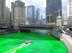 Chicago on St. Patrick's Day, when the river flows green!