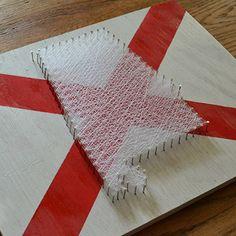 Alabama Flag String Art