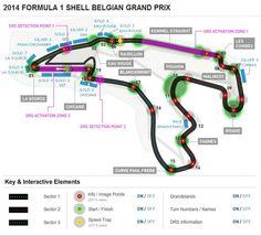 2014 FORMULA 1 SHELL BELGIAN GRAND PRIX Circuit Diagram. Credit: www.formula1.com