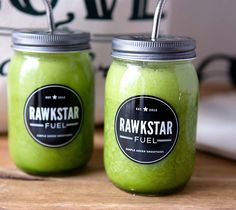 Beginner's Luck Green Smoothie recipe never tasted as good as it does in our Rawkstar mason jars. Get the recipe below:  Beginner's Luck Green Smoothie 2 cups spinach 2 cups water 1 cup pineapple 1 cup mango 2 bananas