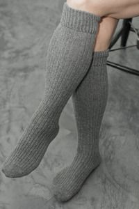 Bess Cashmere Slouch Rib Knee Socks - Slouchy, squishable and with touches of cashmere and angora, these socks will pamper your toes no matter how you wear them.  We think they'll be great inside wellies too!  Made in the USA.