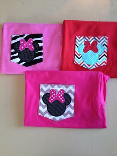 Minnie Mouse Pocket Tee Real Functional Pocket Disney World Vacation Tee Girls Women on Etsy, $22.00