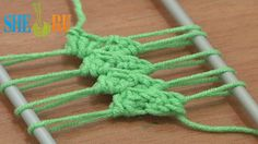 Hairpin lace crochet - tutorial 12 - You Tube- 7 min - Sheru Knitting