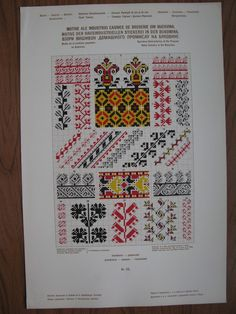"Photo from album ""Вышивка on Yandex. Cross Stitch Embroidery, Cross Stitch Patterns, Pattern Books, Free Pattern, Diy And Crafts, Bullet Journal, Chart, Knitting, Romania"