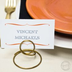 Personalize these bracket reception stationery pieces to match your own style!   Wedding Invitations by CharmCat Stationery & Design
