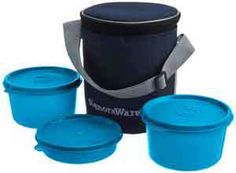 Signoraware Executive Medium Lunch Box with Bag, 15cm, T Blue At Rs.429