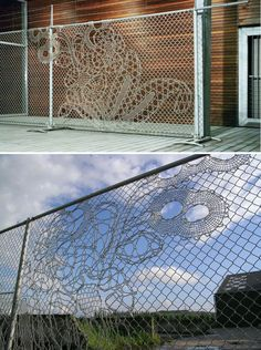Fences never looked so good!   Lace Fence is a design of Dutch Design House Demakersvan. It is a high-end metal fabric that gives new insights in how you can create unique environments.