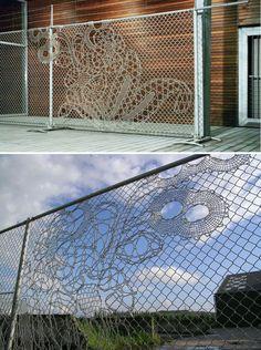 DE MAKERS VAN - Dutch Design House's lace fence