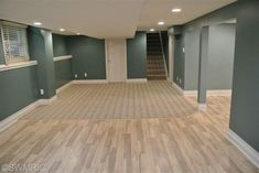 Finished Basement.  Color and wood flooring