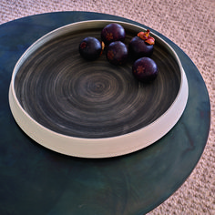 Pression by Marcia Brilha & Marta Frutuoso is a molded, vitrified, hand-painted porcelain dish that creates a space for conversation on the table. #modernhomedécor #contemporaryhomedécor #modernhomeaccessories #highendhomedécor #contemporaryhomeaccessories #highendhomeaccessories