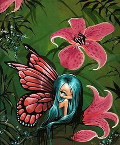 Pink lily fairy