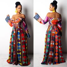 Outstanding women dresses are available on our internet site. look at this and you wont be sorry you did. African Print Dresses, African Print Fashion, African Fashion Dresses, African Attire, African Wear, Maxi Outfits, Fashion Outfits, Couture Fashion, Fashion Show