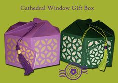 The Papercraft Post: Cathedral Window Gift Box. Swirl-close - it's re-usable! http://thepapercraftpost.blogspot.co.uk/2015/09/cathedral-window-gift-box_1.html