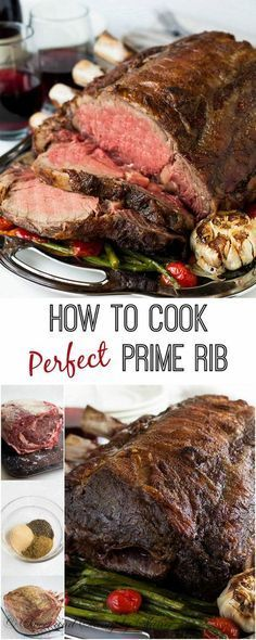 Used this method to cook Prime Rib perfectly! Let me show you how to roast a perfect prime rib, step by step, with proven, fool-proof method using reverse sear technique as seen on Serious Eats. Roast Recipes, Cooking Recipes, Healthy Recipes, Game Recipes, Prim Rib Recipes, Healthy Cooking, Sirloin Recipes, Healthy Food, Cooking Herbs