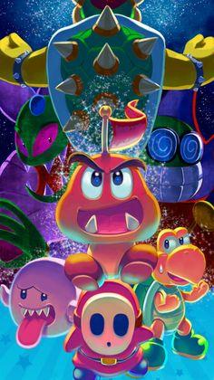 Super Mario Bros Nintendo, Super Mario And Luigi, Super Mario Art, Super Mario World, Mario Bros., Nintendo Pokemon, Nintendo Characters, Yoshi, Mario All Stars