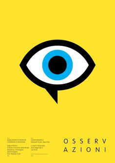 Maiarelli Studio, Poster for University of Bologna Lecture Eye on you Graphic Eyes, Graphic Prints, Poster Prints, Eye Illustration, Graphic Design Illustration, Print Design, Logo Design, Eye Logo, Communication Design