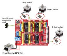 GRBL CNC Shield for 3-axis CNC machine The Arduino CNC Shield makes it easy to get your CNC projects up