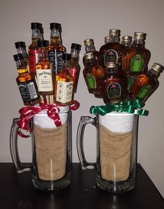 Mini Alcohol Bottles Gifts, Alcohol Gifts For Men, Mini Liquor Bottles, Alcohol Gift Baskets, Liquor Gift Baskets, Valentine Gift Baskets, Mens Valentines Gifts, Liquor Bouquet, Mini Alcohol Bouquet