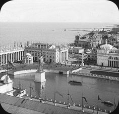 Chicago World's Columbian Exposition in 1893. Daniel Burnham and john root and Fredrick law Olmsted.