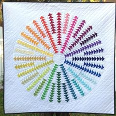 Quilting Tips, Quilting Projects, Quilting Designs, Modern Quilting, Patchwork Vol D'oie, Flying Geese Quilt, Rainbow Quilt, Quilt Modernen, Miniature Quilts