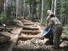 ARRA Project: Repair Historic N Rim Forest Trails 01 by Grand Canyon NPS, via Flickr