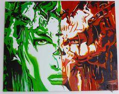 Art Lover Place - Femme aux 2 facettes (Peinture) par HIVERT CORINNE