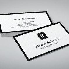 Customizable Simple Elegant Monogram - Easy Customization Business Card Template