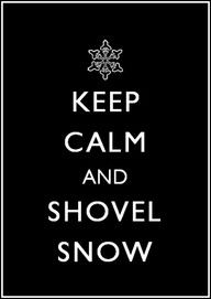 I do think shoveling after or during a beautiful snowfall is the most relaxing task!  I love it!