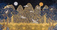 왕릉의 전설展-조선의 왕족, 현대미술로 재탄생하다 :: 고양신문 Korean Art, Asian Art, Korean Traditional, Traditional Art, Korean Painting, Pen And Watercolor, Traditional Paintings, Bedroom Art, Pictures To Draw