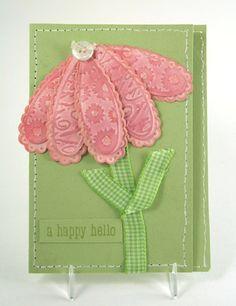 Cuttlebug Flower Petal Card by - Cards and Paper Crafts at Splitcoaststampers Homemade Envelopes, Homemade Cards, Scrapbook Cards, Scrapbooking, Cardmaking And Papercraft, Paper Crafts, Card Crafts, Cricut Cards, Embossed Cards