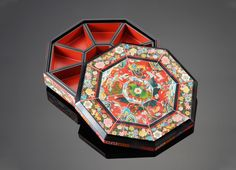 traditional platter of 9 delicacies, Jae-Mahn Lee, artisan of OX-Horn inlaying holder