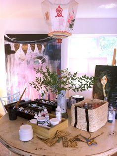 Anahata Katkin's art studio