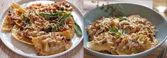 ... , Sage & Pine Nuts | Chicken Marsala Ravioli w/ Wild Mushroom & L...