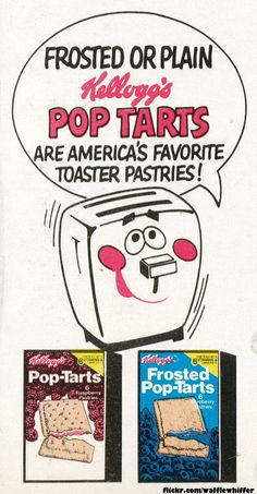 On the side panel of my Kellogg's Corny-Snaps cereal box is this super ad for Pop-Tarts featuring Milton The Toaster!  October 1976