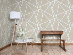 Hampstead Penumbra by Little Greene - Wallpaper : Brewers Home Harlequin Wallpaper, Little Greene, Art Society, Room Goals, Wallpaper Decor, Interior Inspiration, New Homes, Living Room, Table