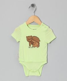 Loving this Silkberry Baby Lemongrass Bear Organic Layered Bodysuit - Infant on #zulily! #zulilyfinds