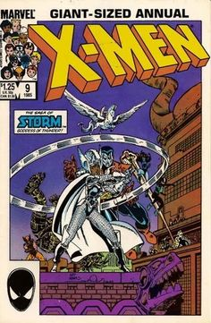 Uncanny X-Men; Vol Annual 9 Copper Age Comic Book. December Marvel Comics x-men adams Marvel Comic Books, Marvel X, Comic Books Art, Comic Art, Marvel Characters, Marvel Women, Dc Comics, Comics For Sale, X Men