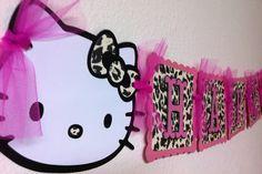 hello kitty leopard print birthday decorations