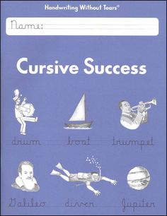 Cursive Success Student Workbook. Great pic! Have a look at this Cursive Handwriting post. http://www.tpt-fonts4teachers.blogspot.com/2013/02/cursive-style-fonts-family.html