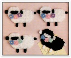 Lamb Magnets Pattern - Plastic Canvas - Instant Download PC189007 by MsBobbies on Etsy