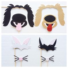 Dog and Cat Photo Booth Props ; Animal Birthday Party Props ; Kids Photobooth…