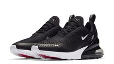 the latest 1fb8e b8c94 Nike Air Max 270 Black White AH8050-002 Anthracite Running Shoes Men Size  10.5