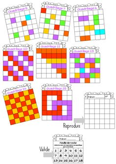 Quadrillage à colorier Reperage-sur-quadrillage Validée OK Montessori Math, Preschool Math, Kindergarten Math, Fun Math, Teaching Math, Math Activities, Social Emotional Activities, Irrational Numbers, Pix Art